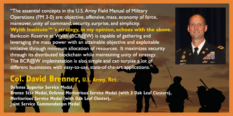 Welcome to Wyith Institute | Colonel David Brenner (US Army