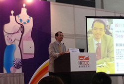 Dr Raymond Cheng giving seminar 					at Hong Kong Fashion Week 2015, Hong Kong Conference and Exhibition Centre