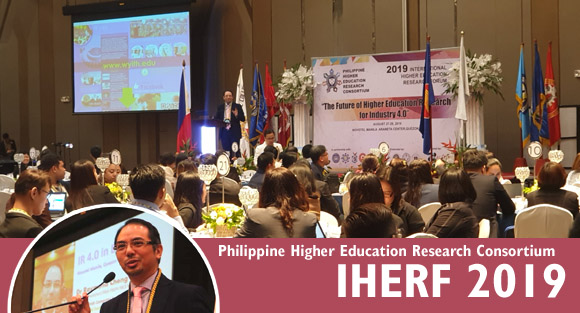 Dr Raymond Cheng speaks at the 7th International Higher Education Research Forum 2019 of Philippine Higher Education Research Consortium