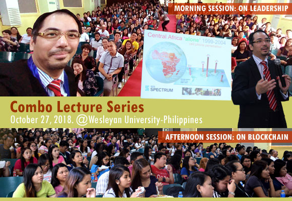 Dr Raymond Cheng at Wesleyan University-Philippines Visiting Lecture Series 2018
