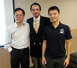 Dr Raymond Cheng attends John Yu's doctoral defense 2013