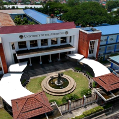 Birdview of the entrance (Gate 5) of University of the Assumption