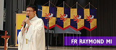 Fr Raymond Mi holding Sunday Mass on the 5th Easter Sunday